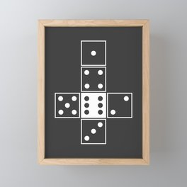 Gray Unrolled D6 Framed Mini Art Print