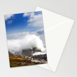 Wave crashing in Louisbourg Stationery Cards
