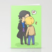 johnlock Stationery Cards featuring Johnlock Kisses by KalesButt