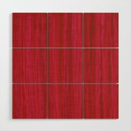 Strawberry Colored Vertical Stripes Wood Wall Art