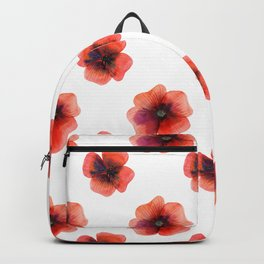 Meadow Red Poppies Backpack