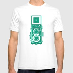 Yashica Mat 124G Camera Emerald Mens Fitted Tee White SMALL