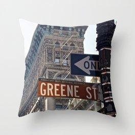Streets of SoHo NYC Throw Pillow
