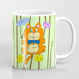 Tick Tock Meow Meow - 3 o'clock Cat Clock Coffee Mug