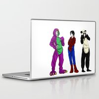 scary Laptop & iPad Skins featuring Scary by Rabiscos e Tal