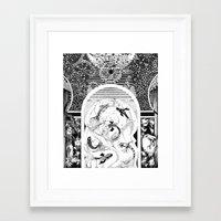 "koi fish Framed Art Prints featuring ""Koi Fish"" by Eva Redamonti"