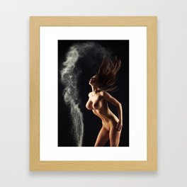 Nude Woman And Dust Framed Art Print