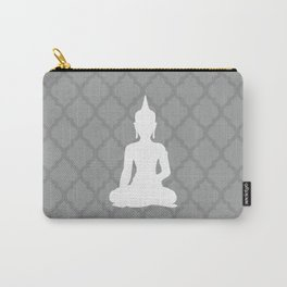 Grey and White Buddha Carry-All Pouch