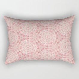 Millennial Pink Chenille Pattern Rectangular Pillow