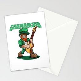 Shamrockin - Rocking Leprechaun With E-Guitar Stationery Cards