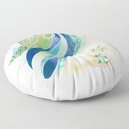 Turtles of Sanibel Floor Pillow