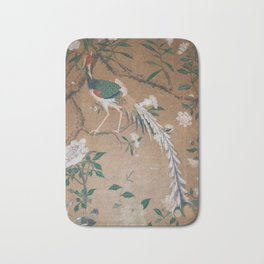Antique French Chinoiserie in Tan & White Bath Mat