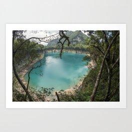 Cenote de Laguna Brava Art Print