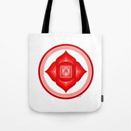I AM - Red Lotus Root Chakra Yoga Meditation Mantra Tote Bag
