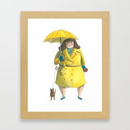 Glória e Mimi chic à chuva - Gloria and Mimi chic under the rain Framed Art Print