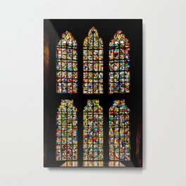 King's Chapel Stained Glass Window Tower of London England Metal Print