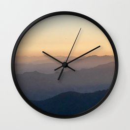 Mountain Mist Wall Clock