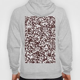 Small Spots - White and Dark Sienna Brown Hoody