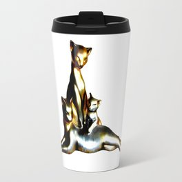 Two Cats And A Kitten Travel Mug