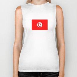 tunisia country flag Biker Tank