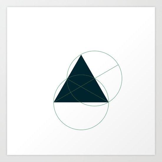 #362 Hidden truths – Geometry Daily Art Print