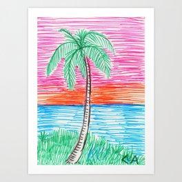palm view Art Print
