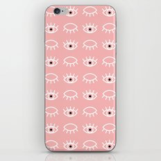 Eyes Wide Open Pink iPhone Skin