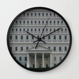 The Trump Whitehouse Renovation Detail Wall Clock