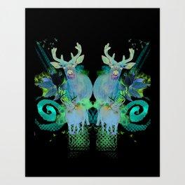 Fawns Art Print