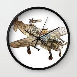 Flying Cat Wall Clock