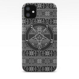 Satanic ugly sweater iPhone Case