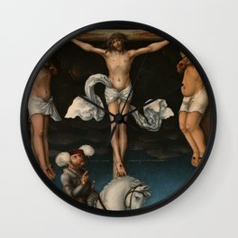 """Lucas Cranach the Elder """"The Crucifixion with the Converted Centurion"""" Wall Clock"""