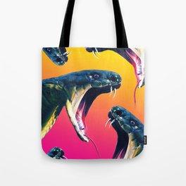 Snake attack Tote Bag