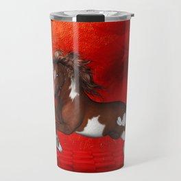 Beautiful wild horse Travel Mug