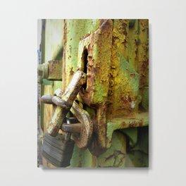 Train Lock Metal Print