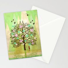 Spring Tree Stationery Cards