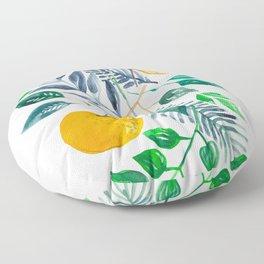 Painted watercolor oranges in nature Floor Pillow