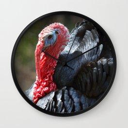 Turkey Day Dinner Wall Clock