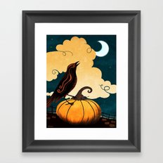 Halloween Is In The Air Framed Art Print