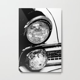 Vintage Car Taillights Metal Print