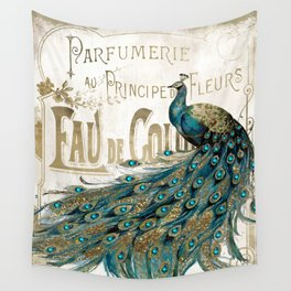 Peacock Jewels Wall Tapestry
