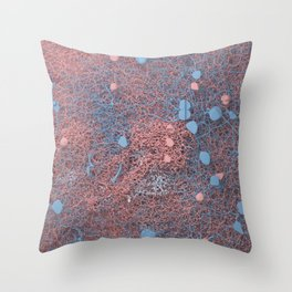 Rose Quartz and Serenity Neurons Throw Pillow
