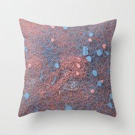 Rose Quartz and Serenity Neurons Throw Pillow