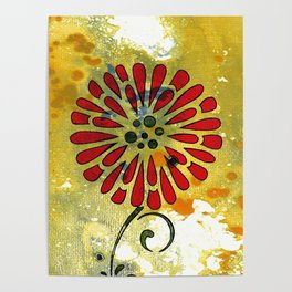Abstract Acrylic Painting SPRING II Poster