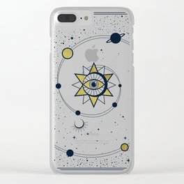 The Solar System Clear iPhone Case