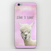 lama iPhone & iPod Skins featuring Lama by Monika Strigel