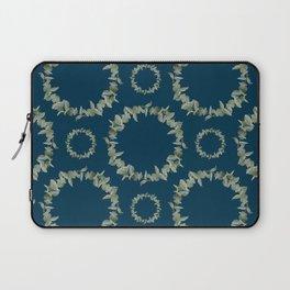 Eucalyptus Patterns with Navy Blue Background Realistic Botanic Patterns Organic & Geometric Pattern Laptop Sleeve