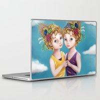 gemini Laptop & iPad Skins featuring Gemini by Paula Ellenberger