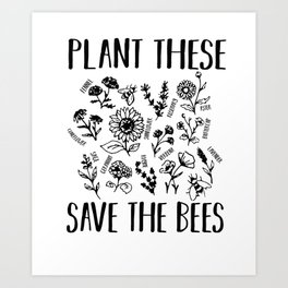 Bee conservation Environment Waste Animal Welfare Art Print