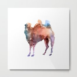 Camel / Abstract animal portrait. Metal Print